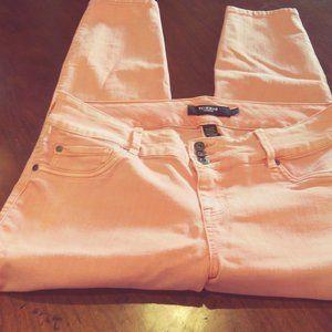 Torrid Coral colored  skinny leg jeans